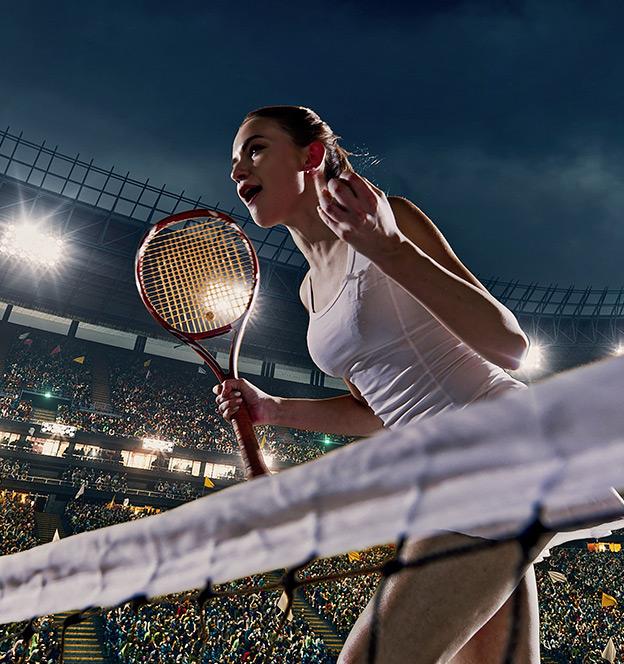 female tennis player sport